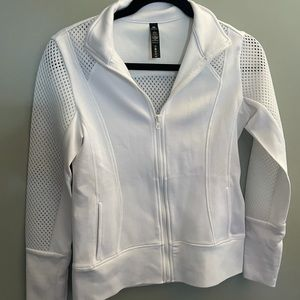 90 degree by reflex active top white zip up size S